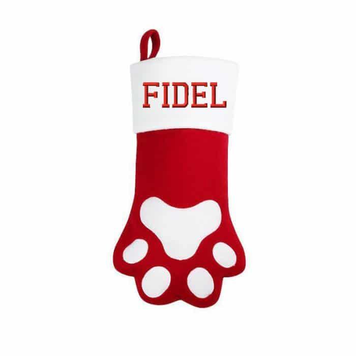 Julstrumpa tass, julstrumpa hund