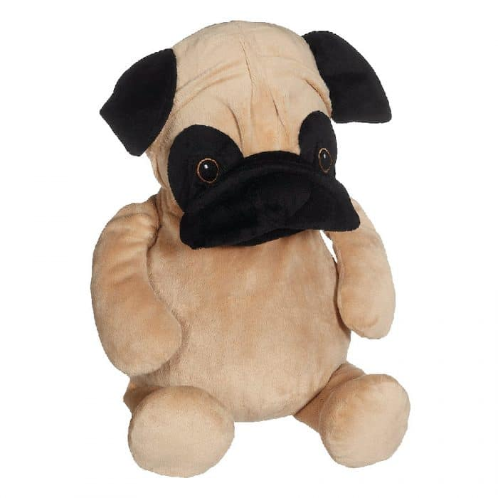 Hund mjukisdjur med text