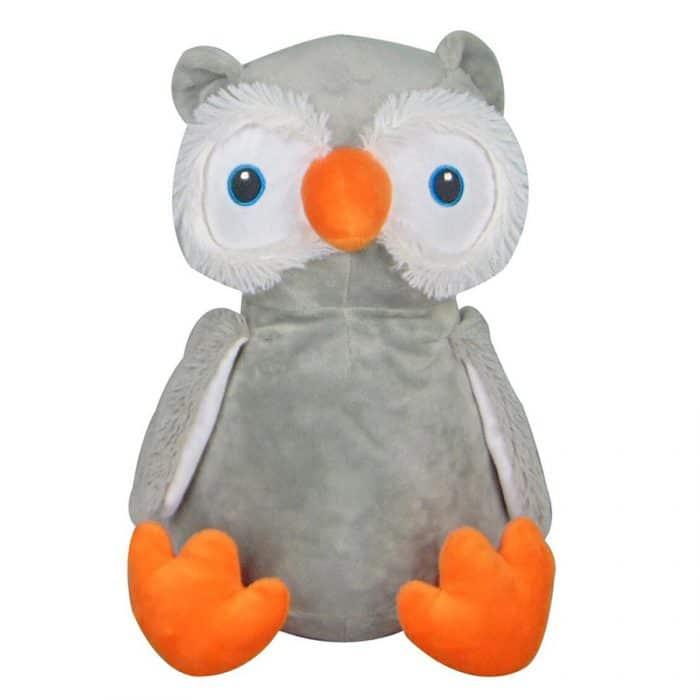Mjukisdjur med namn - Uggla Cubby - TeddyPost - Personliga Presenter