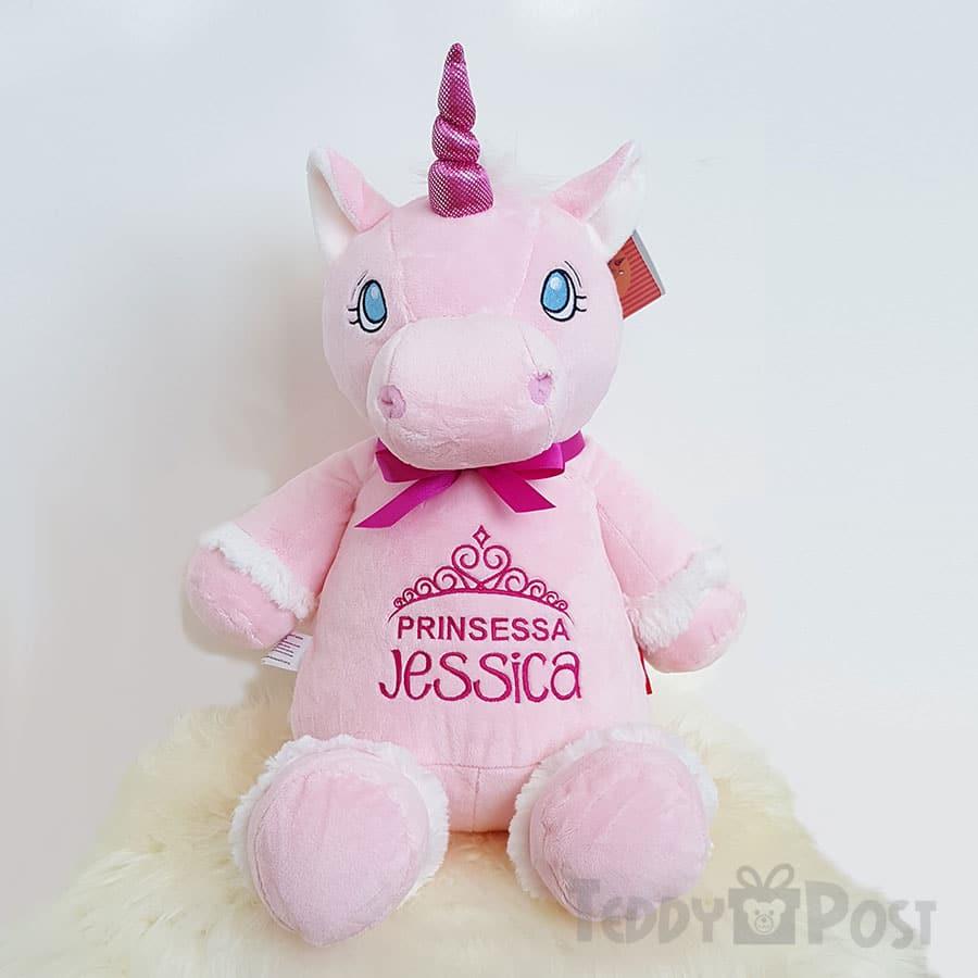 Rosa enhörning mjukisdjur