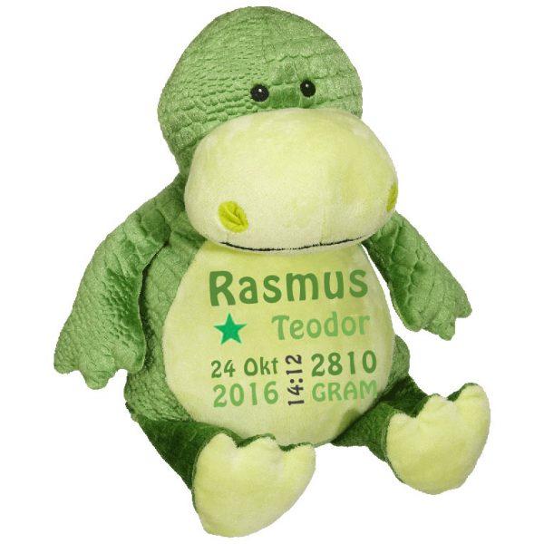 Mjukisdjur dinosaurie, grön