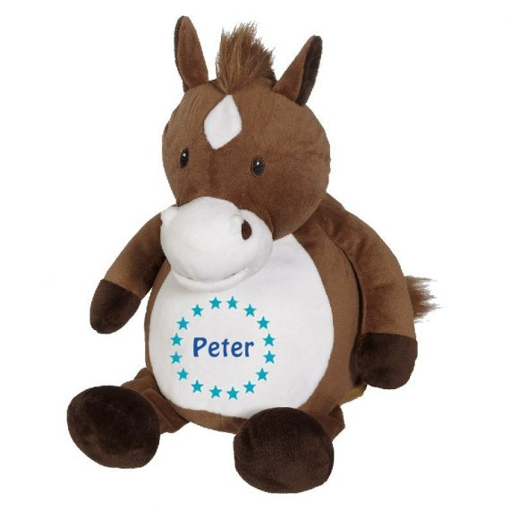 Mjukisdjur med namn – Brun Häst – TeddyPost – Personliga Presenter