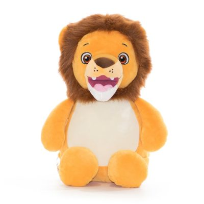 Lejon mjukisdjur med namn eller egen text