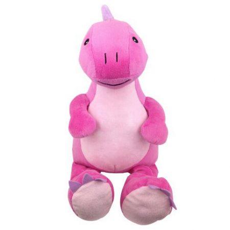 Rosa Dino mjukisdjur med namn