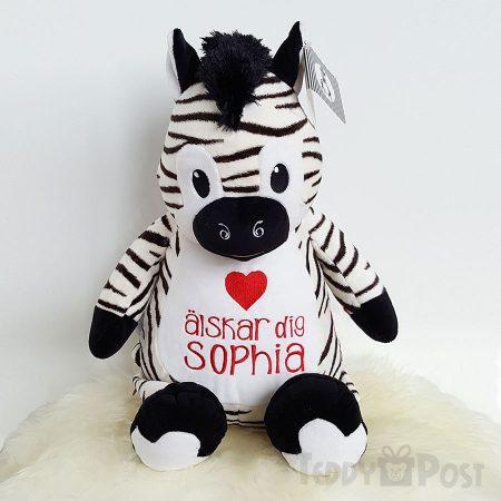 Mjukisdjur Zebra med namn