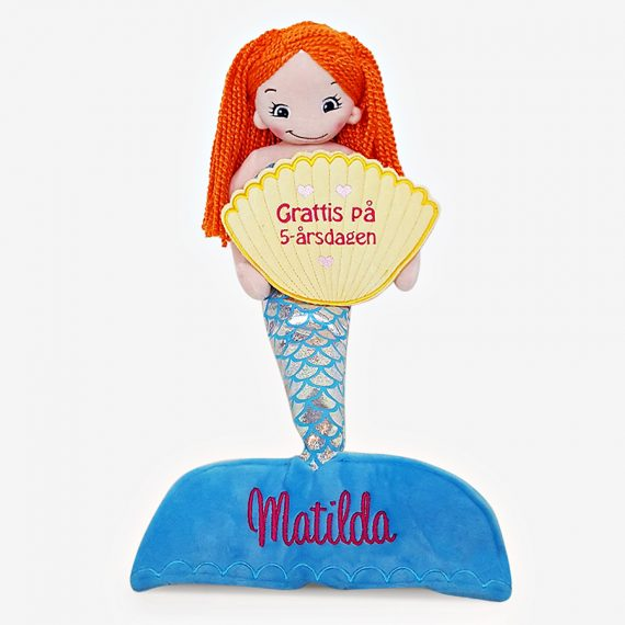 Sjöjungfru docka med namn