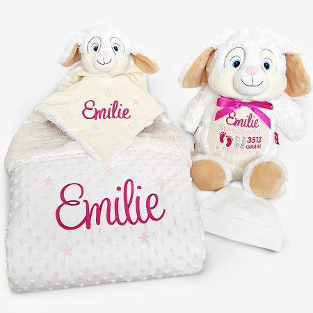 Present till nyfödd - Paket Vit Kanin