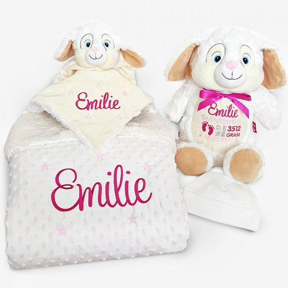 Present till nyfödd – Paket Vit Kanin
