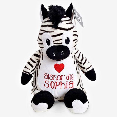 Zebra mjukisdjur med namn