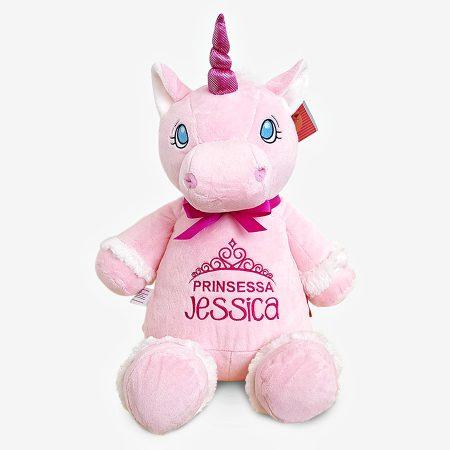 Rosa enhörning mjukisdjur med namn