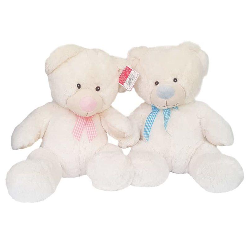 Stor nallebjörn blå & rosa