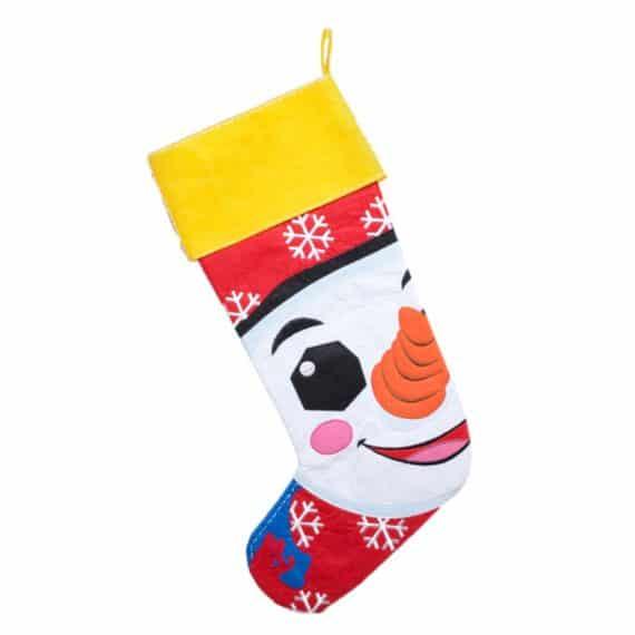Personlig julstrumpa med snögubbe
