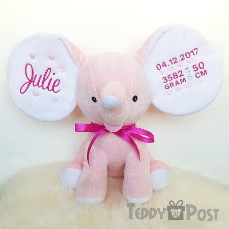 Mjukisdjur med namn rosa elefant