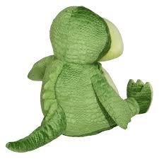 Baksida på mjukisdur, grön dinosaurie