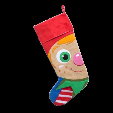 Pojke julstrumpa med namn, 55 cm