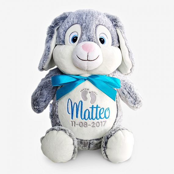 Grå kanin personligt mjukisdjur