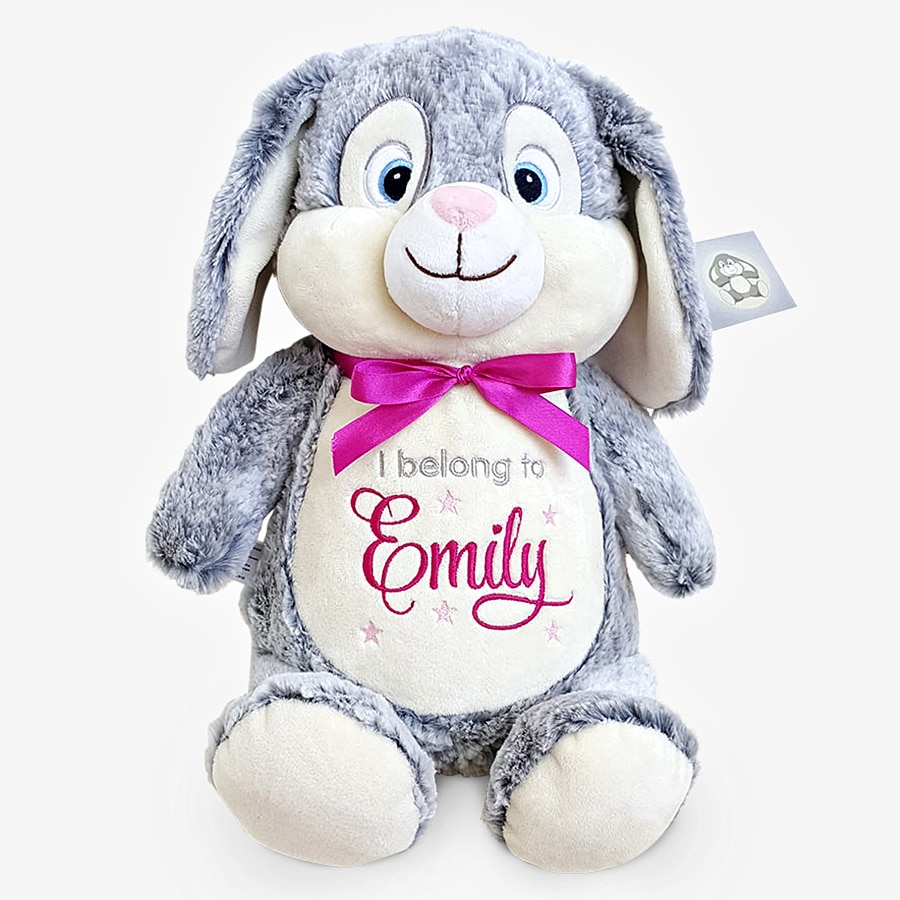 Kanin mjukisdjur med rosa rosett