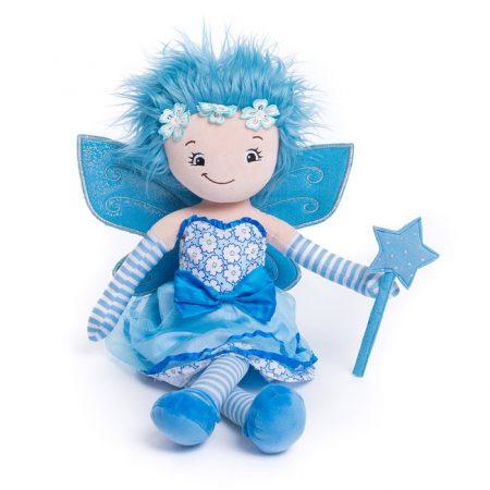 Blå fe docka med namn
