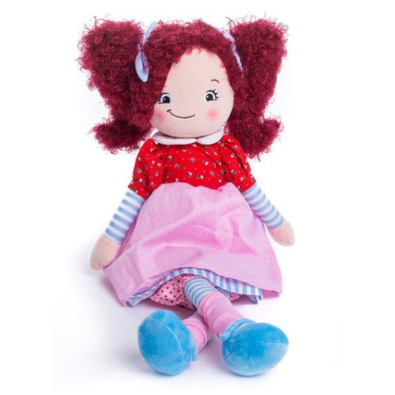 Rödhårig docka med namn