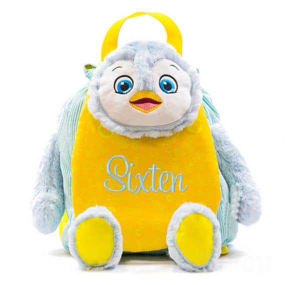 Ryggsäck med namn pingvin
