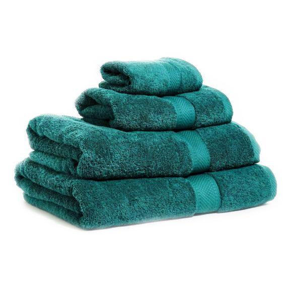 Grön handduk med namn