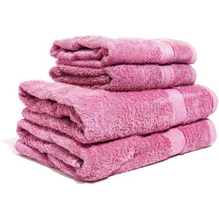 Rosa handduk med namn