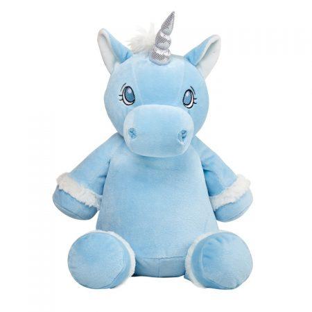Blå enhörning mjukisdjur