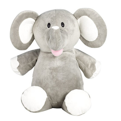 Grå elefant mjukisdjur med namn