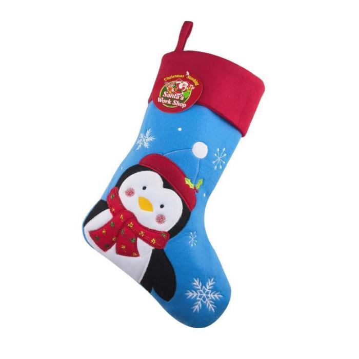 Pingvin julstrumpa med namn