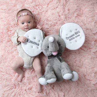 Mjukisdjur med namn, elefant med bebis