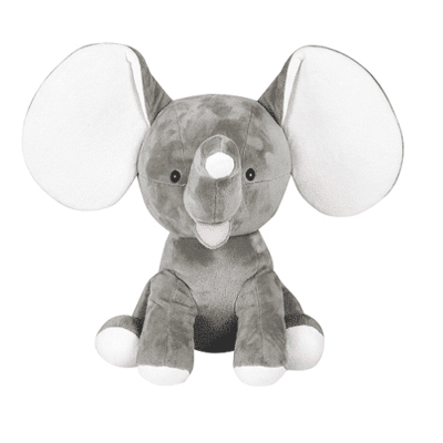 Grå elefant gosedjur med namn