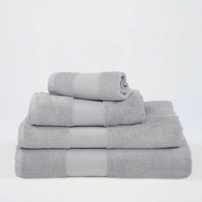 Grå handduk