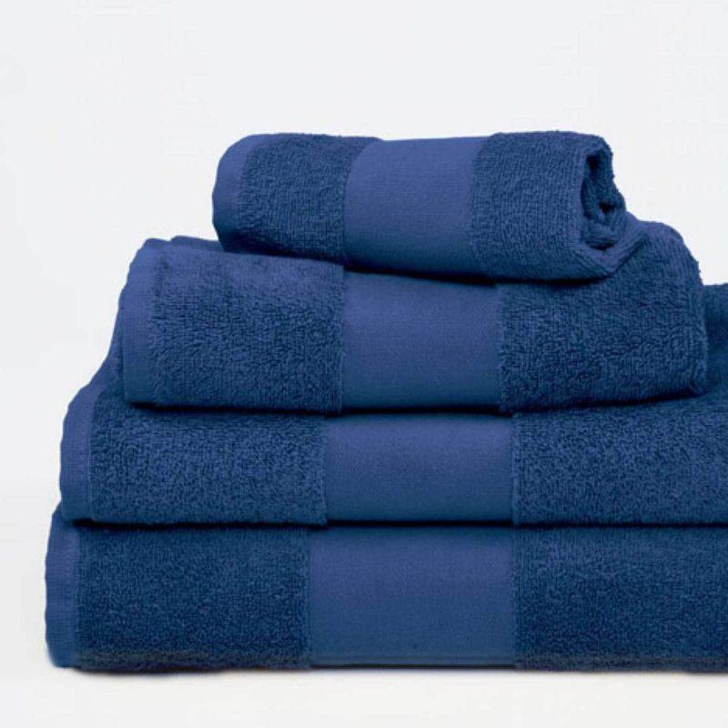 Marinblå handduk