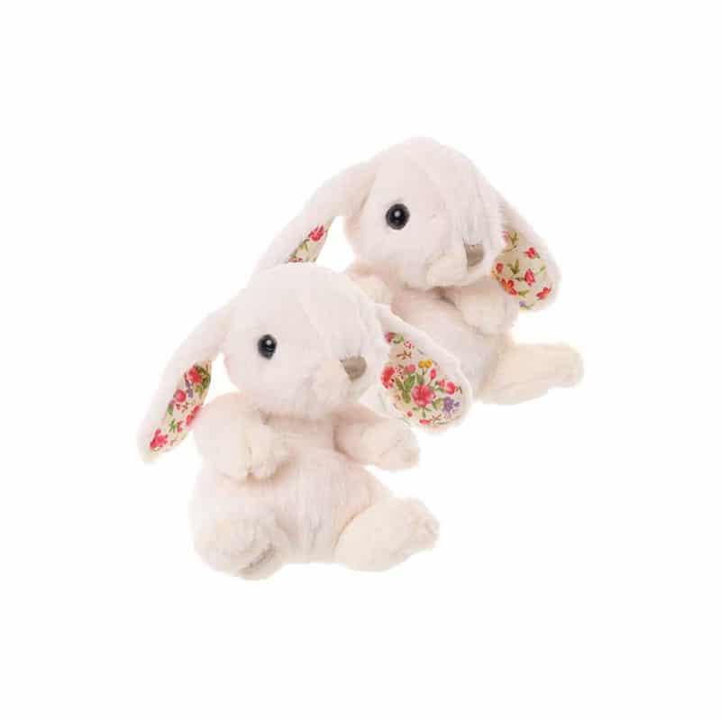 kanin med blommor som motiv
