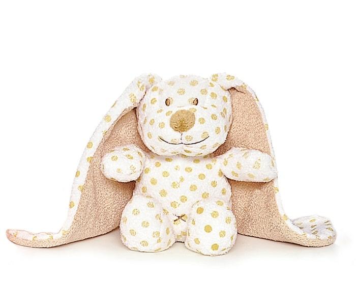 En söt brun hund med stora öron från Teddykompaniet.