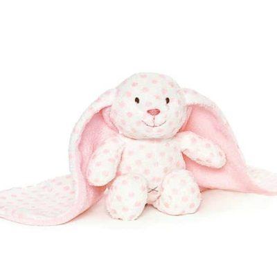 Detta söta mjukisdjur är en rosa nalle med stora öron från Teddykompaniet.